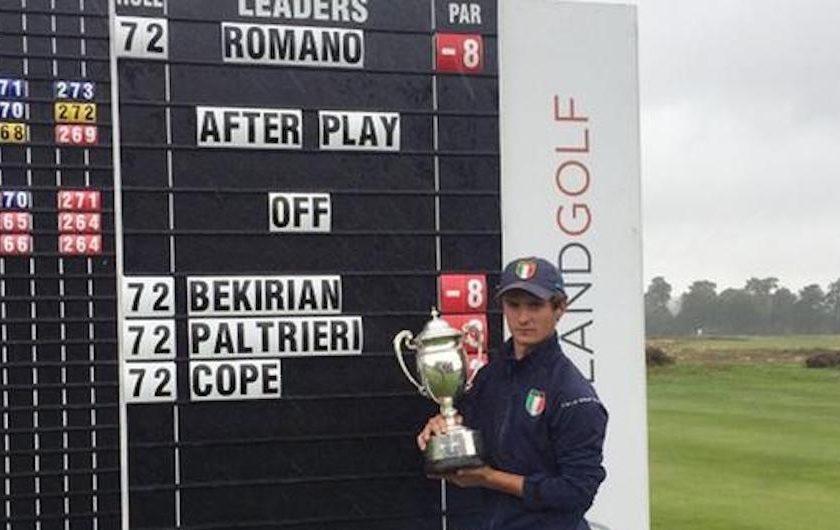 Andrea Romano vince in Inghilterra