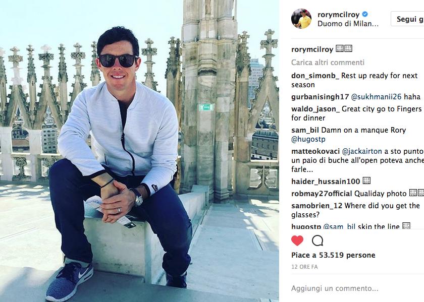 McIlroy a Milano… ma solo da turista!
