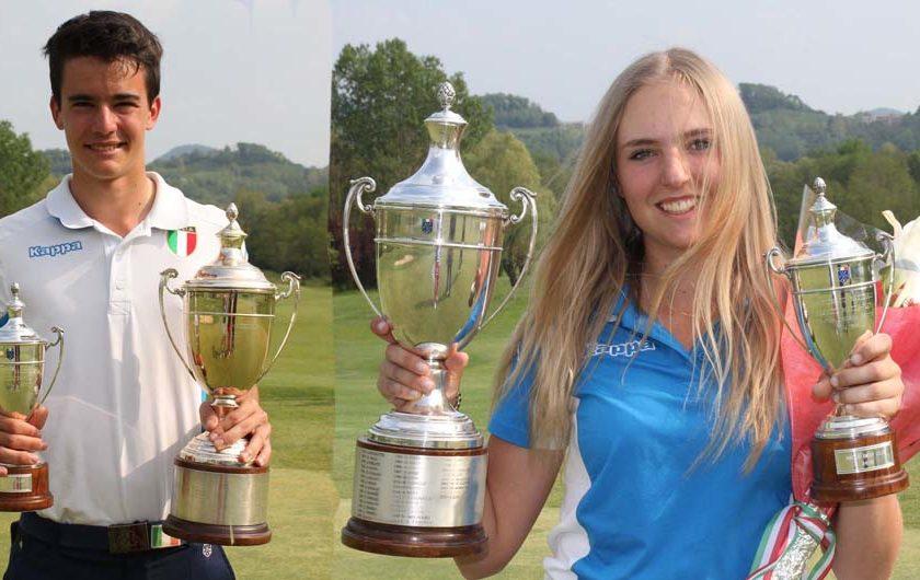 Scalise e Fabrizio tricolori medal