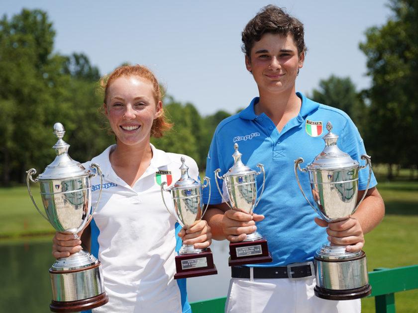 Fenoglio e Cattaneo vincono il campionato Nazionale Cadetti e Cadette