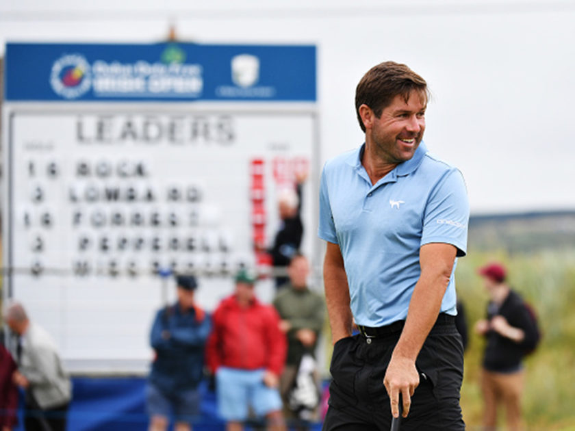 Robert Rock fa 60 e passa in testa all'Irish Open; 14° Dodo Molinari