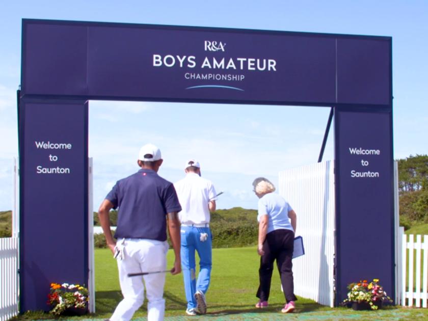 Tre Boys superano il turno nell'Amateur Championship in Inghilterra