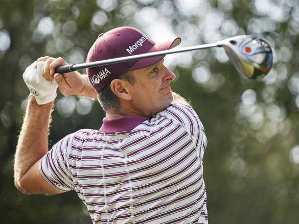 Justin Rose of England in action during Day one of the Italian Open at Olgiata Golf Club on October 10, 2019 in Rome, Italy. (Photo by Quality Sport Images/Getty Images)