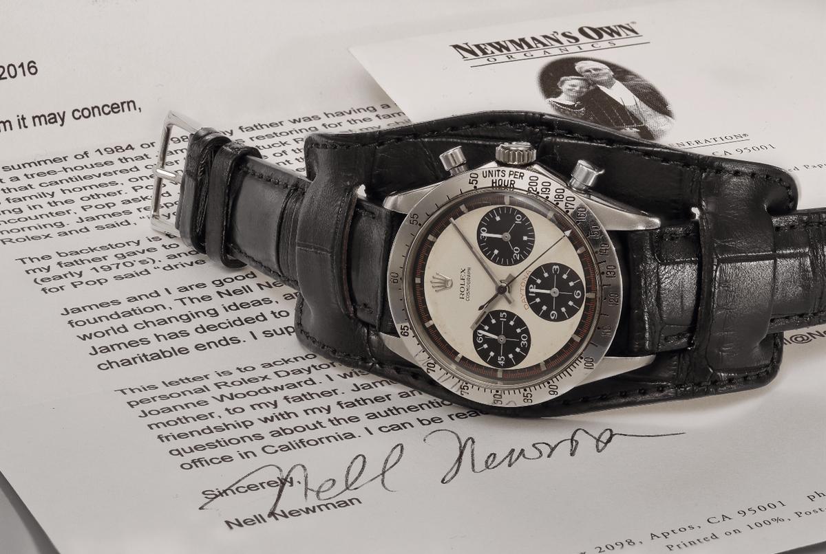Il Rolex Daytona di Paul Newman, battuto all'asta per la cifra record di 17,8 milioni di dollari