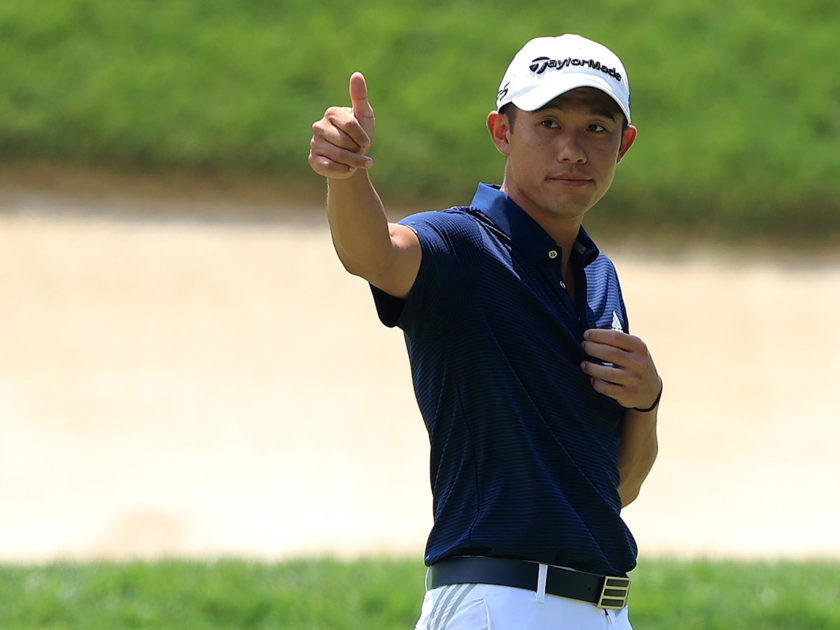 I temporali non impediscono a Collin Morikawa di rimanere in vetta al Workday Charity Open