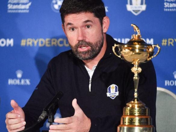 Il Capitano della quadra europea di Ryder Cup, Padraig Harrington